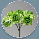 Confezione 72 pezzi-fiori, Bomboniera fiore rosellina, x segnaposto, composizione confetti. CK2113 (VERDE)