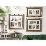 Cornice per 6 foto effetto specchio e colore legno scuro SINTA