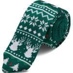 Cravatta natalizia lavorata a maglia verde
