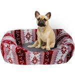 Cuccia Per Cani E Gatti 62x50x17 Cm In Poliestere Snow Rosso