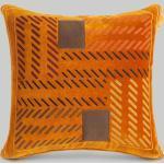 Cuscino Con Ricami, Arancione