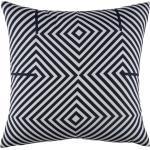 Cuscino da esterno bicolore motivi grafici, 45x45 cm