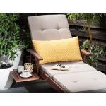 Cuscino da esterno in poliestere giallo/bianco