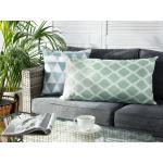 Cuscino da esterno in poliestere verde/bianco