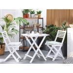 Cuscino da seduta in poliestere verde/bianco