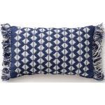 Cuscino per interno ed esterno Morty Blu scuro 30x50 cm - Tappeto outdoor per balcone, terrazzo e giardino