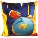 Cuscino Toiletpaper - / Globe - 50 x 50 cm di Seletti - Multicolore - Tessuto