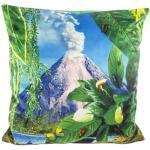 Cuscino Toiletpaper - / Vulcano - 50 x 50 cm di Seletti - Multicolore/Verde - Tessuto