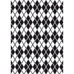 Darice Embossing Folder Cartella per Goffratura Mascherina Losanghe, 12.7x17.8x0.3 cm