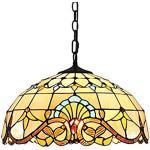 E27 Tiffany Lampada a sospensione Vintage Glass lampadari Altezza regolabile Tavolo da pranzo Sala da pranzo Cucina Retro Illuminazione per Sospensione Soggiorno Camera da letto Loft Cafe Bar