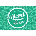 "Ecco Verde ""Nicest Wishes "" Bigliettino Personale - Nice Wishes"