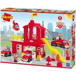 Ecoiffier 3026 - Grande caserma dei vigili del fuoco Abrick - Gioco di costruzione per bambini a partire dai 18 mesi - Made in France