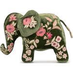 Elefante di peluche con ricamo