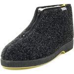 Emanuela 565 Granito Nero Pantofola Uomo Made In Italy Lavabile In Lavatrice A 30 Gradi Fodera Agnellata Di Vera Lana Nero 40