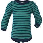 Engel - Baby Body L/S mit Druckknöpfen geringelt 98/104 turchese/nero/blu