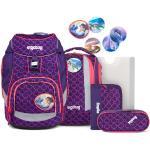 Ergobag Pack zaino scolastico con accessorio set di 6pz. con set di Kletties fucsia