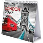 Erik® - Calendario da tavolo 2020, 17x20 cm - London