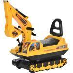 Escavatore Ruspa Cavalcabile Per Bambini Benzoni Giallo E Nero