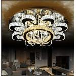 Euroton - Lampadario a sospensione a LED in cristallo, 6021-80 cm, con telecomando, bianco freddo, bianco caldo, luce bianca calda, cristallo trasparente ambrato, 96 W, A+