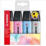 Evidenziatore Stabilo Boss Pastel 70/4-4 - colori assortiti - Stabilo - astuccio 4 pezzi Quantita min. 1
