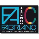 Fabriano Album disegno colorato Colore Fabriano 24x33 cm assortiti 220 g/mq 25 fogli 65251524