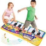 Faburo Tappeto Musicale, Bambini Piano Mat Tastiera Danza Stuoia Strumento, Bambini Coperta da Gioco Tocco Mat Educativo Giocattolo(70 30cm)