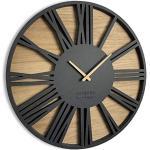 FLEXISTYLE Orologio da Parete Moderni Roman Loft Eco 50cm Nero, Camera da Letto, Soggiorno, Ufficio, Silenzioso, Fatto in Europa