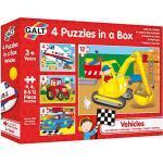 Galt America 54659 - 4 Puzzle in Scatola Veicoli