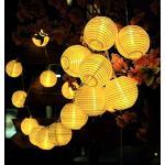 GDEALER Catena Luminosa a Energia Solare Luci Per Esterni 4.8 Metri 30 LED Lampioni Lanterna Ad Energia Solare Impermeabile, Decorazione Per Giardino, Terrazza, Cortile, Casa, Albero Di Natale, Feste Natale - Bianco Caldo Moderno 1 pezzo