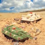 Gioco 2 Serbatoi a Distanza Battaglia Controllo RC con Il Regalo a infrarossi Gioco di Guerra Torrette