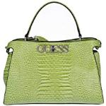 Guess Borsa mano/tracolla Uptown Chic Turnlock satchel 2 comp. ecopelle verde lime