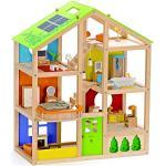 Hape- Casa 4 Stagioni Arredata Giocatollo, Multicolore, E3401