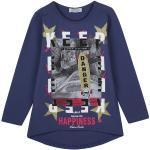 Happiness Maglietta a maniche lunghe asimmetrica T-Shirt Manica Lunga bambina Blu taglia 08