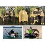 Hardbelly deluxe - belly boat rigido versione deluxe ( 6 portacanne + 3 gavoni con chiusura stagna + gavone porta motore con chiusura + alloggiamento per ecoscandaglio, ruote trasporto + 4 maniglie)