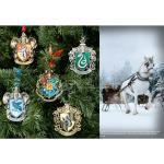 Harry Potter Ornamenti Natale Set 5 Stemmi Casate Di Hogwarts Noble Collection