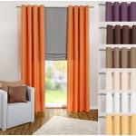 heimtexland ® Tenda con Occhielli in Arancione, a Tinta Unita, Opaca ma traslucida, 245 x 140 cm – Tenda Decorativa in Microfibra con Bellissimo Caso Leggero – Tenda Typ117