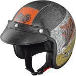Held Black Bob Jet Helmet Design crushed Disegno di casco jet schiacciato, nero-arancione, dimensione S