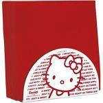 Hello Kitty 36906-117985 Porta tovaglioli, colore: rosso/bianco, 14,6 x 8,9 x 6,2 cm