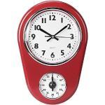 HERCHR Orologio da Parete Cucina Orologio Cucina con 60 Minuti Timer Orologio da Parete Vintage Orologio da Parete Digitale,21,6×31,6×5,7 cm