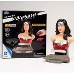Herpa - Puzzle Fun 3D 80657220, Meraviglioso fumetto della Justice League per creare e giocare o regalare, rosso/argento