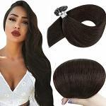 Hetto 20 Pollici Pre Bonded Keratin Brown Hair 2 Darkest Brown Brasiliani Extension Fusion Capelli Veri 50Gram In Total Individualee U Tipped Capelli Remy Capelli Umani