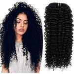 Extension nere naturali per capelli ricci con capelli veri