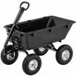 hillvert Carrello da giardino ribaltabile - 4 ruote pneumatiche - 550 kg - 150 L HT-Q.BASS-550