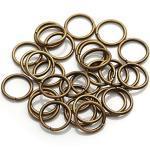 HND Connettore ad Anello Spalato for la Produzione di Bracciale Fai da Te (200 pc / 4 6 8 10 mm) (Color : Antique Bronze, Size : 5mm X 200pcs)