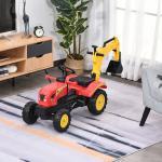 Homcom Escavatore Giocattolo a Pedali con Braccio Mobile per Bambini da 3 a 6 Anni
