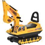 Homcom Escavatore Ruspa Giocattolo Cavalcabile per Bambini max. 30 kg
