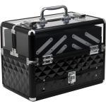 Homcom Valigetta Make Up Porta Trucchi Professionale con Vassoi Estraibili Telaio in Alluminio 30x18.5x22cm