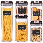 HOMELODY Barattoli Cucina 5 Pezzi Contenitori per Pasta Senza BPA porta Spaghetti Cereali Farina