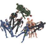 Homyl 10 Pezzi di Plastica Action Figure Militari Set 9cm Soldatini Speciali
