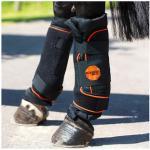 Horseware RAMBO IONIC STABLE BOOTS - Stinchiere da riposo black/ black/orange stripe